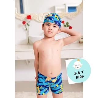 Sét đồ bơi cho bé trai 10-22kg ( gồm 1 quần bơi và 1 mũ) thumbnail