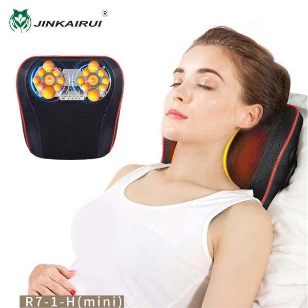 Jinkairui Gối mát xa cổ với hệ thống sưởi ấm Nhào nặn Massage Shiatsu cho cơ thể có thể sử dụng cho xe hơi và tại nhà