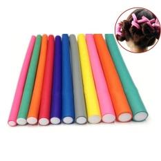10 Pcs/Set Soft Foam Hair Roller Curler Magic Air Hair Curler Sticks 1CM Random Color - intl