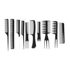 Hình ảnh 10 cái Đen Pro Salon Tóc Tạo Kiểu Tóc Làm Tóc Nhựa Thợ Cắt Tóc Chải-quốc tế