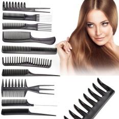 Hình ảnh 10 cái/bộ Salon Chuyên Nghiệp Tạo Kiểu Tóc Làm Tóc Chải Thợ Cắt Tóc Đen-quốc tế