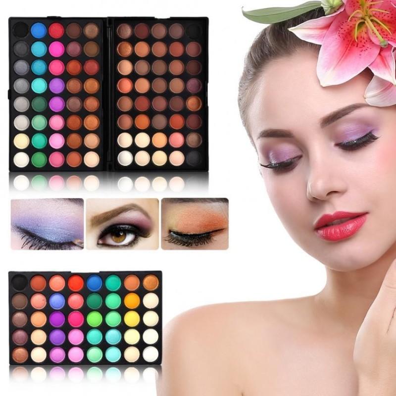 120 Màu Chuyên Nghiệp Lắc Chân Nữ Matte Eyeshadow Palette Mắt Trang Điểm Mỹ Phẩm Bộ Bộ Dụng Cụ-quốc tế