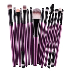 15pcs Makeup Brushes Tool (Purple Black) - intl tốt nhất