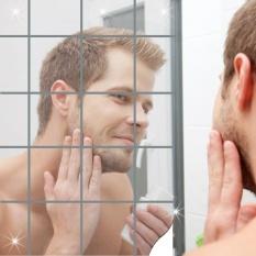 16 cái Phòng Tắm Vuông Removeable Tự adhesi vệ Mosaic Ốp Gương Treo Tường S tickers Trang Trí Nhà-quốc tế tốt nhất