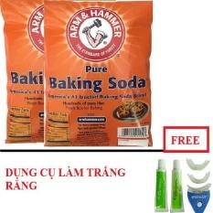 2 Bịch Bột Baking Soda Đa 454G Tặng Dụng Cụ Lam Trắng Răng Tại Nha Chiết Khấu Hồ Chí Minh
