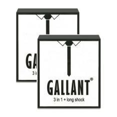 Hình ảnh 2 hộp Bao cao su 4 trong 1 (Mỏng, Kéo dài thời gian, Gân, Gai) GALLANT 3 IN 1 Hộp 3 chiếc - AdamZone