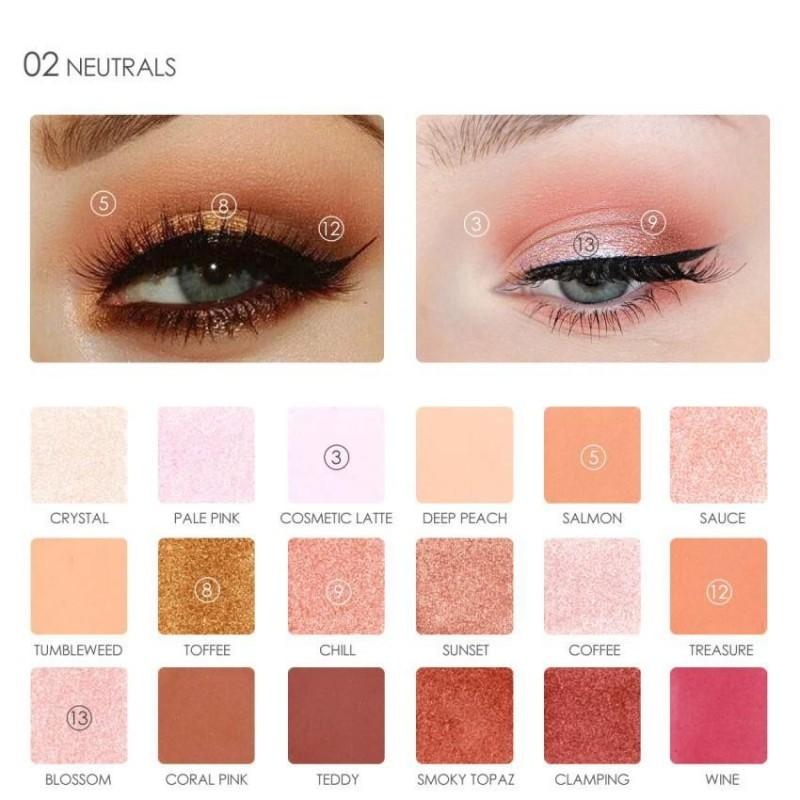 2 loại 18 Màu Sắc/Hộp Lắc Chân Nữ Bảng Phấn Mắt Pearlized Mắt Trang Điểm Làm Đẹp Đựng Mỹ Phẩm-quốc tế nhập khẩu