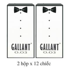 Hình ảnh 24 chiếc Bao cao su Siêu mỏng 0.03 mm GALLANT 0.03 (2 hộp x 12 chiếc) - Vsmile Vietnam