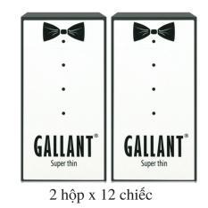 24 chiếc Bao cao su Siêu mỏng GALLANT SUPER THIN (2 hộp x 12 chiếc) - VSmile Vietnam