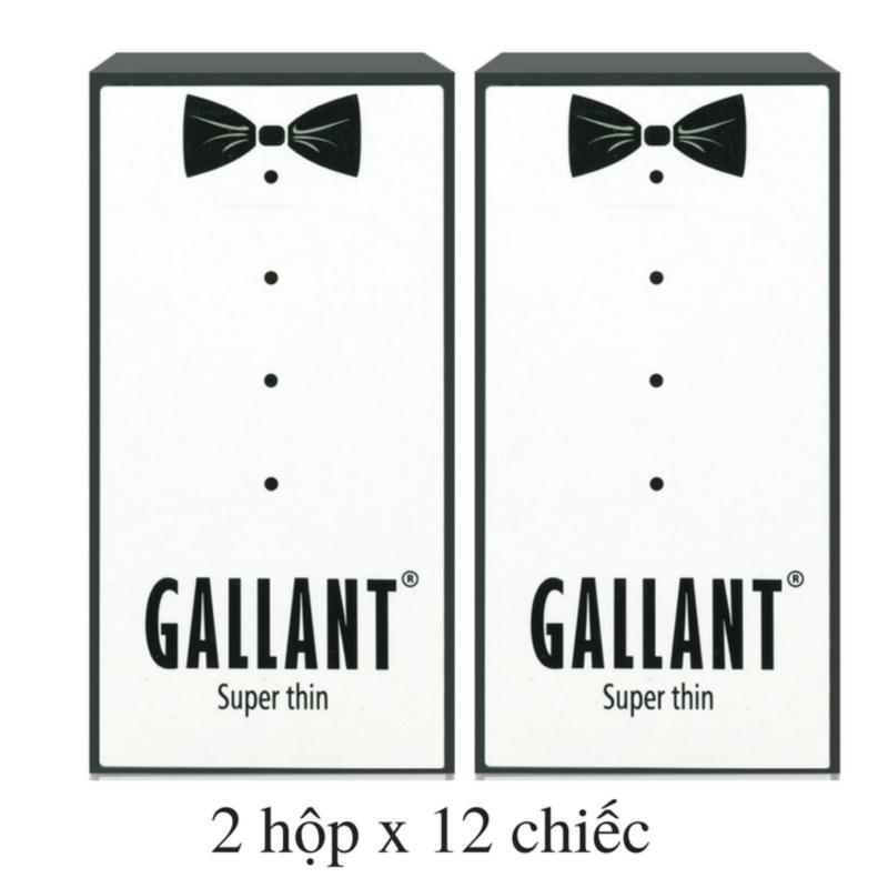 24 chiếc Bao cao su Siêu mỏng GALLANT SUPER THIN (2 hộp x 12 chiếc) - VSmile Vietnam cao cấp
