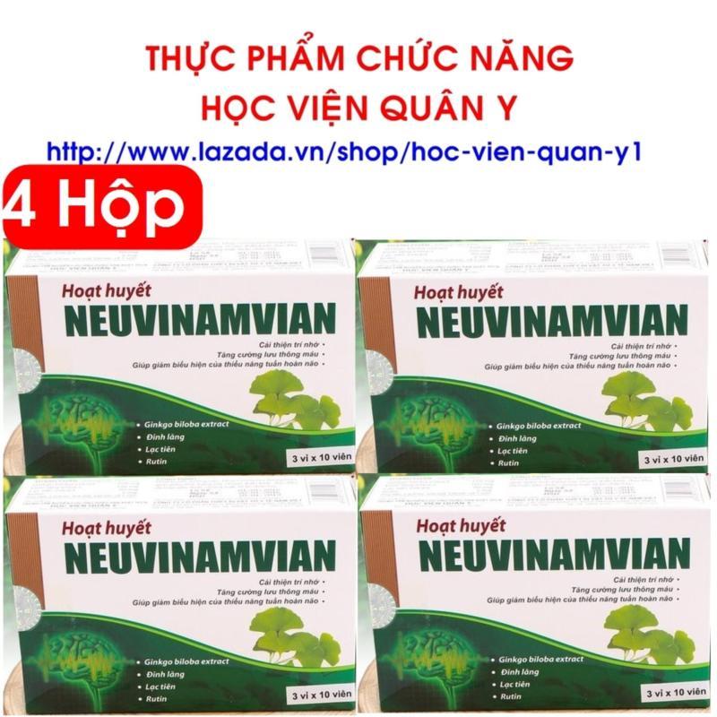 4 hộp Hoạt huyết an thần Neuvinamvian học viện Quân Y hộp 30 viên tốt nhất