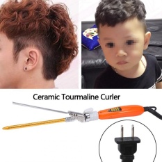 9mm Deep Curly Bunches Ceramic Iron Heating Hair Wave Curler For Men Children Gold US Plug - intl