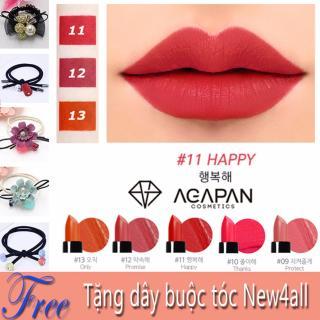 [HCM]Agapan 11 - Son môi lì dạng thỏi agapan màu số 11 Pit A Pat - Son ly Agapan + 01 nơ buộc tóc xinh xắn thumbnail