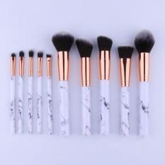 Amart 10Pcs/Set Professional Makeup Brushes Marbling Handle Eye Shadow Eyebrow Lip Eye Make Up Brush Comestic Tools - intl