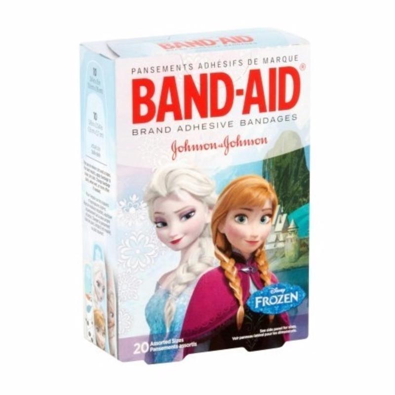 Băng keo cá nhân trẻ em Johnson & Johnson Elsa & Anna 20 miếng