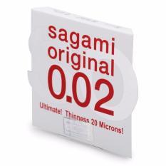 Bao cao su Sagami 0.02 mm siêu mỏng (2 cái)