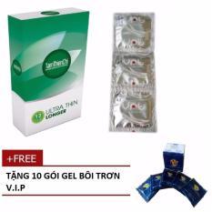 Hình ảnh Bao cao su Siêu mỏng kéo dài thời gian TTC, hộp 12 cái + tặng 10 gói gel bôi trơn VIP