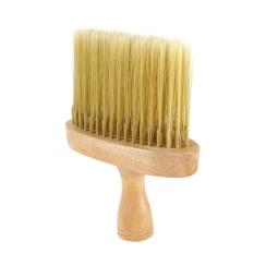Hình ảnh Màu be Cổ rộng Lau Bụi Lông nylon Cắt Bàn Chải tóc Tạo Kiểu Làm Dụng Cụ-quốc tế