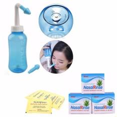 Bình rửa mũi cho bé Nasal Wash (Kèm 10 gói muối sinh lí Nasal Rinse làm dung dịch)