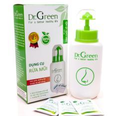 Hình ảnh Bình rửa mũi Dr.Green kèm 10 gói muối nha đam