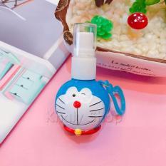 Hình ảnh Bình xịt mini đầu Doremon nháy 1 mắt màu xanh có thể đựng nước hoa , nước xịt kính , hoặc sữa tắm , dầu gội dung tích 25ml - 30DOD00120 - (4x8cm)