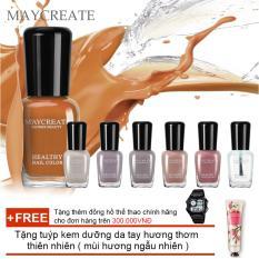 Hình ảnh Bộ 06 lọ sơn móng tay màu cao cấp Maycreate ( Mã màu 712 ) + Tặng tuýp kem dưỡng da tay hương thơm thiên nhiên ( mùi hương ngẫu nhiên )