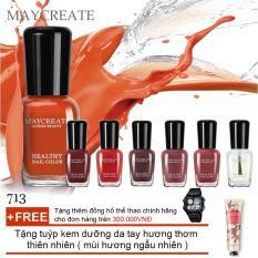 Hình ảnh Bộ 06 lọ sơn móng tay màu cao cấp Maycreate ( Mã màu 713 ) + Tặng tuýp kem dưỡng da tay hương thơm thiên nhiên ( mùi hương ngẫu nhiên )