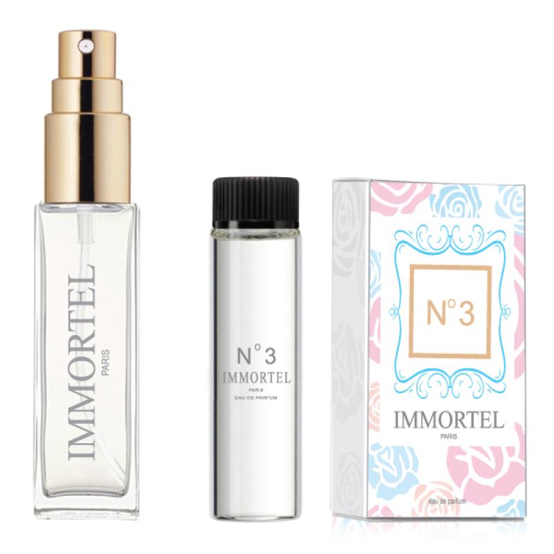Bộ 1 chai xịt và 1 refill Nước hoa nam IMMORTEL No3 Eau De Parfum 8ml