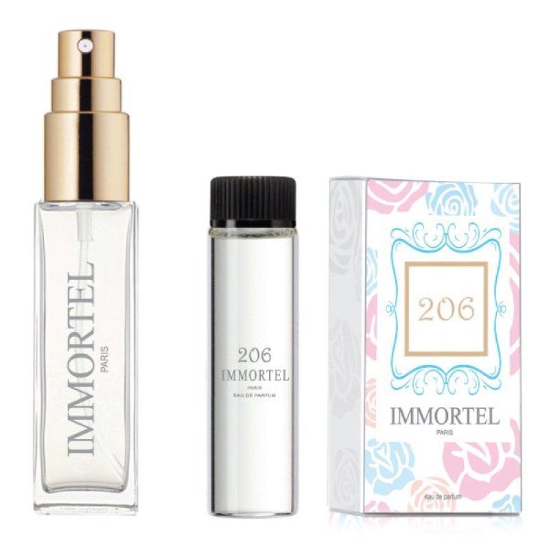 Bộ 1 chai xịt và 1 refill Nước hoa nữ IMMORTEL 206 Eau De Parfum 8ml