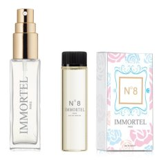 Bộ 1 chai xịt và 1 refill Nước hoa nữ IMMORTEL No8 Eau De Parfum 8ml