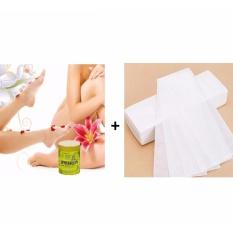 Hình ảnh Bộ 1 Gel Wax lạnh tẩy lông Horshion và giấy Wax lông cao cấp (100 tờ)