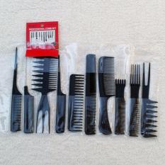Hình ảnh Bộ 10 lược làm tóc đẹp RainStore