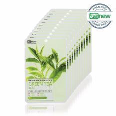Giá Bán Bộ 10 Miếng Đắp Mặt Nạ Tra Xanh Benew Natural Herb Mask Pack Green Tea Chinh Hang Han Quốc Nguyên