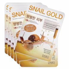 Hình ảnh Bộ 10 miếng mặt nạ giảm các vết thâm nám Mask Pack Snail Gold Hàn Quốc 23ml - Hàng chính hãng