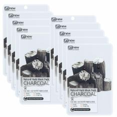 Mua Bộ 10 Miếng Mặt Nạ Than Hoạt Tinh Lam Sạch Da Kiềm Dầu Charcoal Natural Herb Mask Pack Han Quốc 23Ml Hang Chinh Hang Korea