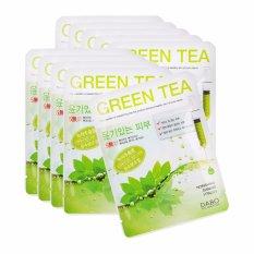 Hình ảnh Bộ 10 miếng mặt nạ trà xanh First Solution Mask Pack Green Tea giảm thâm nám, trắng da Cao cấp Hàn Quốc 23ml - Hàng chính hãng