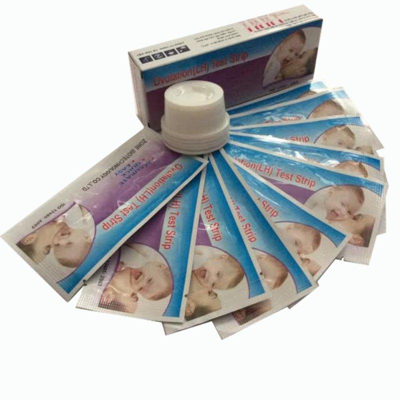Bộ 10 Que Thử Rụng Trứng Ovulation (Lh) Test Strip + Tặng 3 Que Thử Thai Amestick