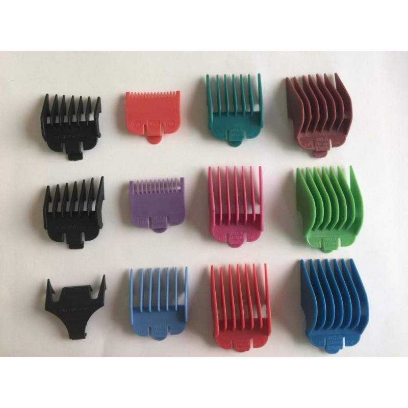Bộ 11 cữ lược cho tông đơ cắt tóc chuyên nghiệp WAHL, CHAOBA... nhập khẩu