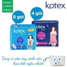 Chiết Khấu Bộ 12 Goi Kotex Style 8X Maxi 4X Ban Đem Tặng Vi Cầm Tay Vietnam