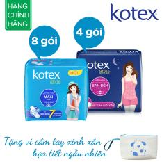 Mua Bộ 12 Goi Kotex Style 8X Maxi 4X Ban Đem Tặng Vi Cầm Tay Trực Tuyến Rẻ