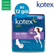Mã Khuyến Mại Bộ 12 Goi Kotex Style Lst Canh Đem 28Cm