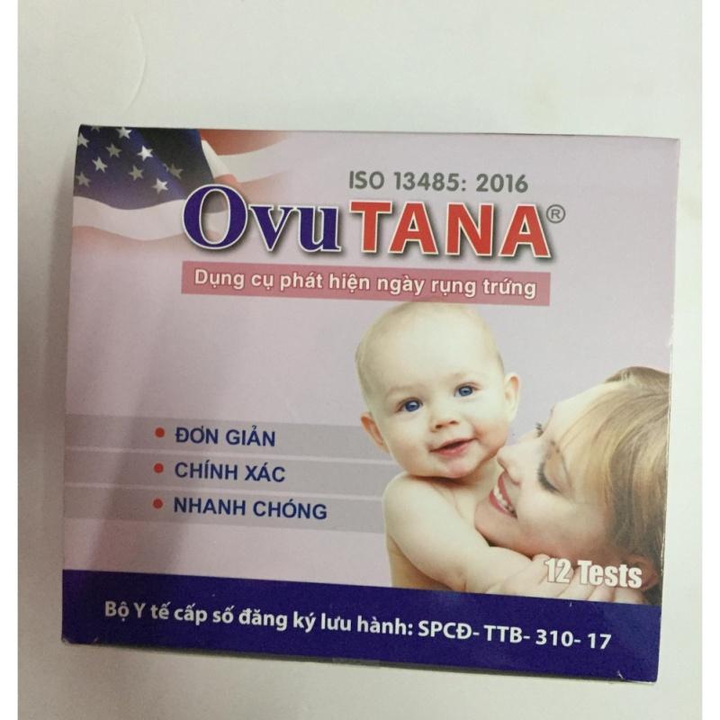 Bộ 12 que thử phát hiện trứng rụng OvuTana