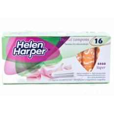 Bộ 2 Băng Vệ Sinh Helen Harper TAMPON SUPPER 16 Miếng Dạng Ống Không Cần Đẩy Dùng Bên Trong Nhỏ Gọn - Nhập Khẩu Từ Bỉ nhập khẩu