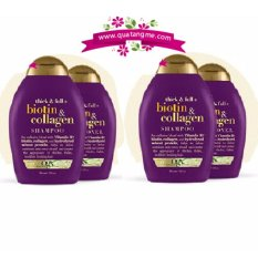 Giá Bán Bộ 2 Cặp Ogx Dầu Gội Va Dầu Xả Kich Thich Mọc Toc Thick And Full Biotin And Collagen Shampoo Conditioner Ogx Mới