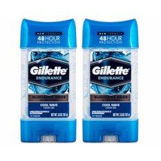 Giá Bán Bộ 2 Chai Lăn Khử Mui Nam Gillette Endurance Cool Wave Clear Gel 107G Dạng Gel Rẻ