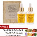 Bán Mua Bộ 2 Chai Tinh Chất Dưỡng Da Beauskin Placenta Gold Whitening Ampule Anti Wrinkle Ampile 30Ml X2 Tặng 1 Mặt Nạ Dưỡng Da 3D Foodaholic Han Quốc Natural Esences Mask Vietnam