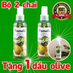 Bộ 2 Chai Xịt Tóc Bưởi Pomelo Tặng 1 Dầu Olive Cocoon