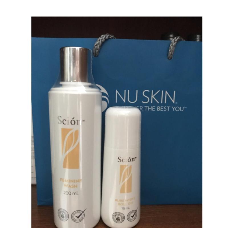 Bộ 2 gồm Nước Rửa Phụ Khoa Scion Nuskin + Lăn khử mùi scion Nuskin nhập khẩu