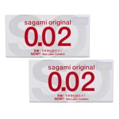 Giá Bán Bộ 2 Hộp Bao Cao Su Sagami Original 02 Micromet 2 Hộp X 2 Cai Mới