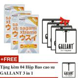 Bán Bộ 3 Hộp Bao Cao Su Sagami Super Thin Sieu Mỏng Nhật Bản Hộp 10C Tặng Kem 4 Hộp Gallant 3 In 1 Sagami Có Thương Hiệu